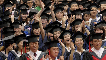 chinese-university-graduation-students-caps-gowns