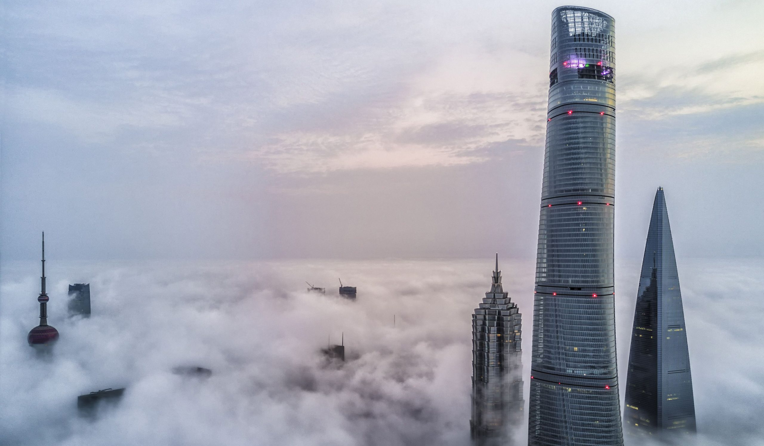 shanghai-skyscrapers-above-the-clouds-morning-sunrise-modern-buildings